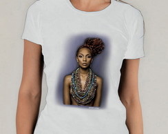 Camiseta Branca Afro Power Girl