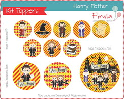 Kit Digital Toppers / Tags Harry Potter
