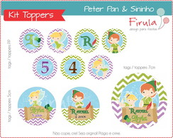 Kit Digital Toppers Sininho e Peter Pan