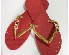 Chinelo havaiana customizado