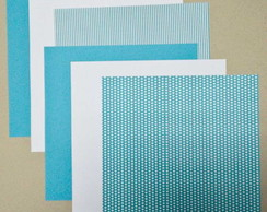kit 6 papeis scrapbook azul 30,5x30,5