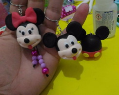 chaveiro minnie e mickey