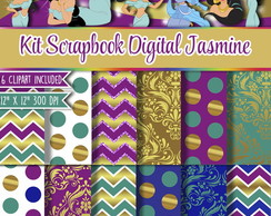 Kit Scrapbook Digital Jasmine