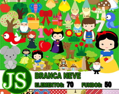 Kit Digital Scrapbook Branca de Neve