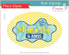 Placa Elipse Digital Bob Esponja