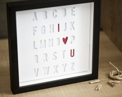 "Quadro ""I Love You"""