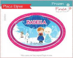 Placa Elipse Digital Frozen