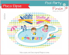Placa Elipse Digital Pool Party