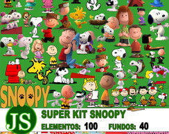 3 Kit Digital Snoopy 3d Tradicional