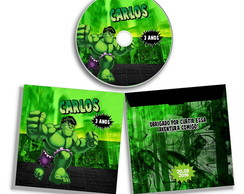Dvd ou Cd Personalizado do Hulk