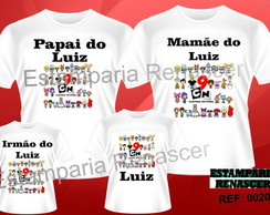 Camisetas Personalizadas Cartoon c/4