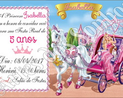Convites Barbie Princesa com envelope