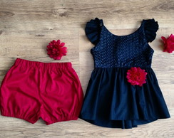 Conjunto top-saia e shortinho ESGOTADO!!!!
