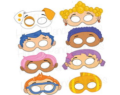 Máscaras Bubble Guppies