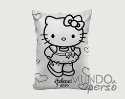 Almofada para Colorir - Hello Kitty