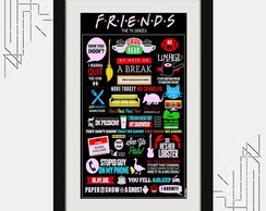 Quadro Friends Sitcom 67x47cm Serie Tv