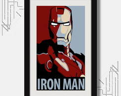 Quadro Iron Man 67x47cm Pop Art Cinema