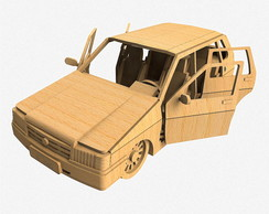 Carro Uno Mille Mdf 3D 3mm
