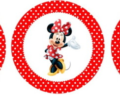 Cromo p topper ou colher Minnie e Mickey