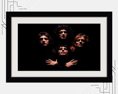 Quadro Queen 67x47cm Musica Bandas Rock