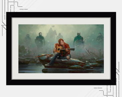 Quadro Last Of Us 67x47cm Games Ellie
