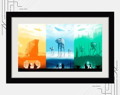 Quadro Star Wars 67x47cm Art Minimalista