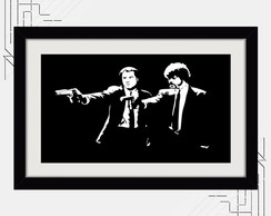 Quadro Pulp Fiction 65x45cm Minimalista K6 Decorativo Quarto