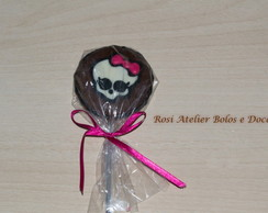 Pirulito chocolate Monster High
