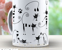 Caneca Cats = Gatos Modernos cute-1642