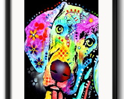 Quadro Weimaraner Pop Art Paspatur