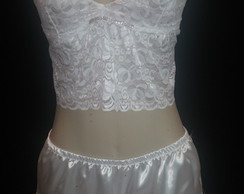 Top de renda c/ short doll