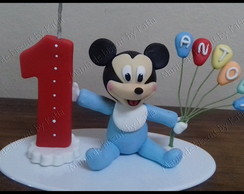 Mickey Baby topo de bolo biscuit