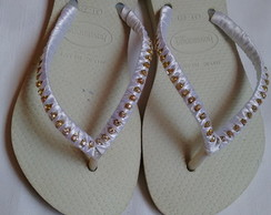 Chinelo Havaiana Decorado Número 31-32
