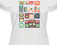 Camiseta baby look Retro Vintage Geek