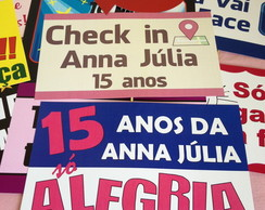Placas Divertidas 15 Anos