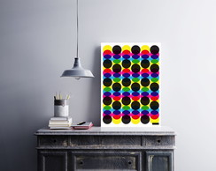 "Placa decorativa ""Circles Colors"""