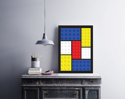 "Placa decorativa ""Lego"""