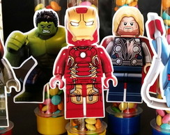 Aplique personagens Lego Marvel