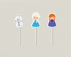 Frozen Cute Toppers Tags
