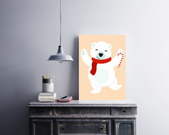 "Placa decorativa ""Urso Polar"""