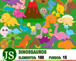 Kit Digital Scrapbook - Dinossauros