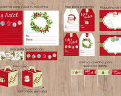 Kit digital de Natal - papelaria