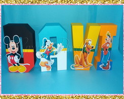 Letras 3D Turma do mickey