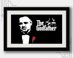 Quadro Poderoso Chefao 67x47cm Cinema Godfather Filme Decor