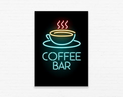 Quadrinho 19x27 Coffee Bar Neon