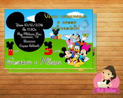 Convite Turma do Mickey - Digital