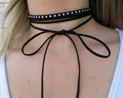 Kit 2 colares gargantilha chocker preto