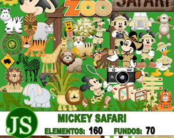 Kit Digital Scrapbook Mickey Safari