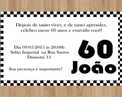 Convite 60 Anos Masculino Elo7