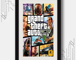 Quadro Gta 5 V 67x47cm Games Decoracao